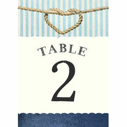 Nautical Knot Table Number
