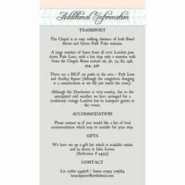 Pastel Bohemian Guest Information Card