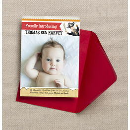 Pirate Party Birth Announcement Card