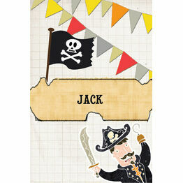 Pirate Party Name Cards - Set of 9