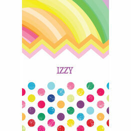 Rainbow Fiesta Name Cards - Set of 9