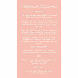 Romantic Lace Guest Information Card