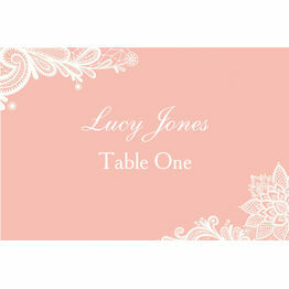 Romantic Lace Escort Cards - Set of 8