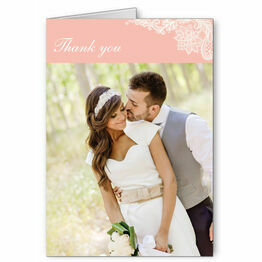 Romantic Lace Thank You Card