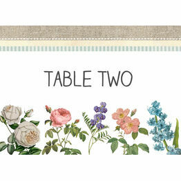 Rustic Botanical Table Name