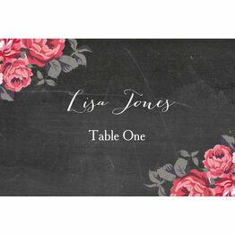Rustic Floral Escort Cards - Set of 8