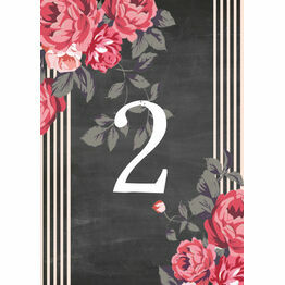 Rustic Floral Table Number
