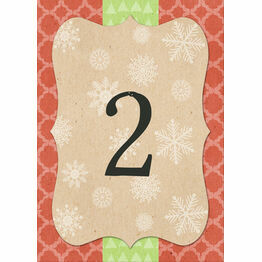 Rustic Winter Table Number