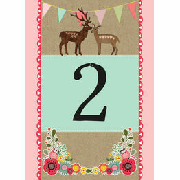 Rustic Woodland Table Number