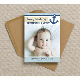 Nautical Birth Announcement Card