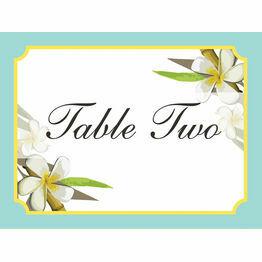 Tropical Beach Table Name