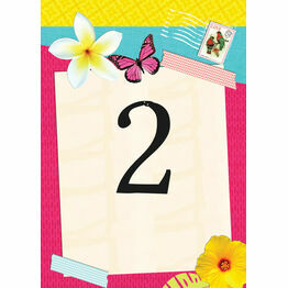 Tropical Breeze Table Number