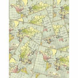 Vintage Airmail Pattern Sheet/Envelope Liner
