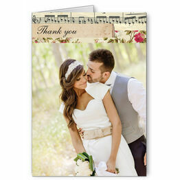 Vintage Scrapbook Thank You Card