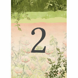 Wild Garden Table Number