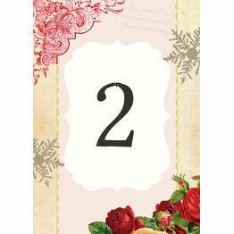 Winter Wonderland Table Number