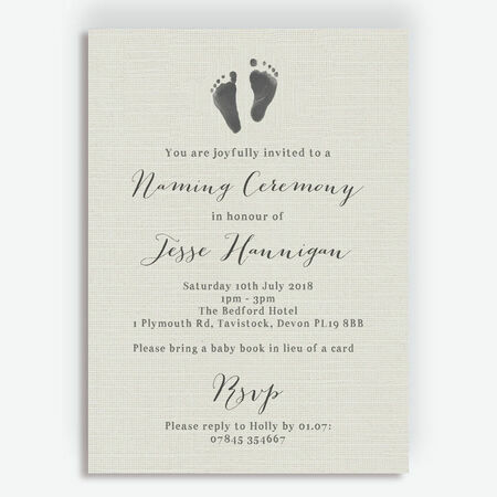 Rustic Calligraphy Naming Day Ceremony Invitation From 163 0