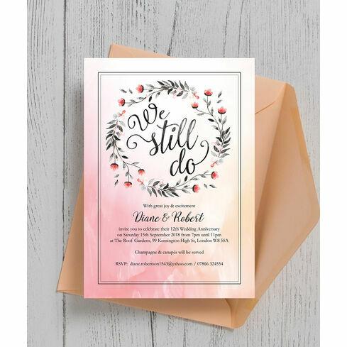 We still do 40th ruby wedding anniversary invitation from 100 each we still do wedding anniversary invitation solutioingenieria Gallery