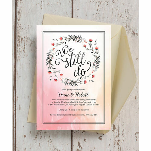 Personalised 60th Diamond Wedding Anniversary Invitations