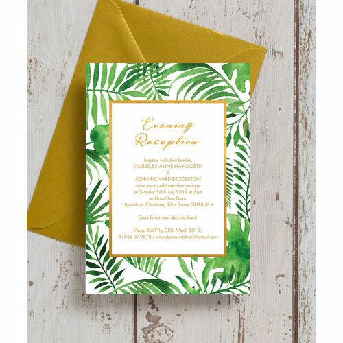 Wedding Ideas For Evening Reception: Personalised Evening Wedding Invitations