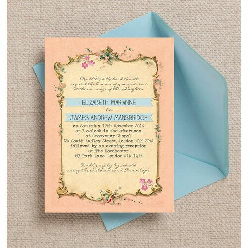 Baby Blue Wedding Invitations: Pastel Wedding Invitations