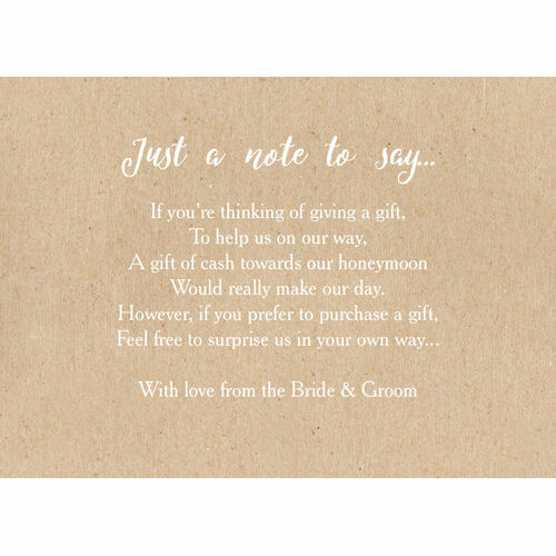 Poems To Ask For Money As A Wedding Gift: Wedding Gift Wish Poem Cards