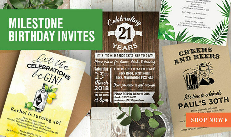Milestone Birthday Invitations