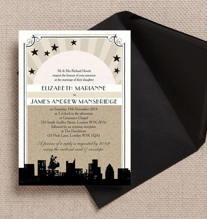 Old Wedding Invitations: Vintage Hollywood Wedding Invitation From £1.00 Each