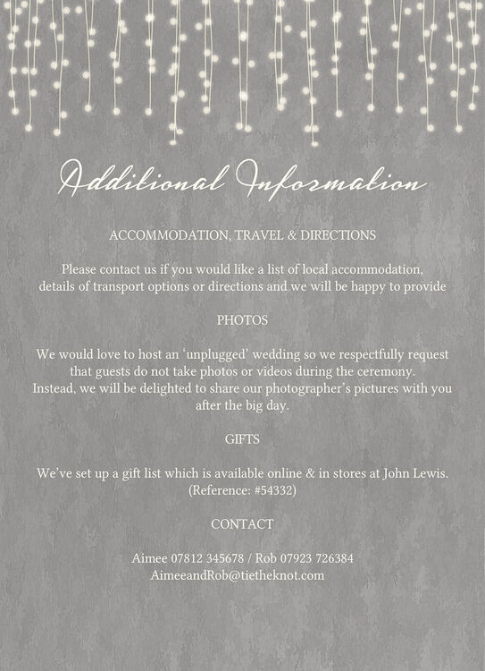 Dove grey fairy lights wedding invitation from 100 each dove grey fairy lights wedding invitation additional 3 stopboris Image collections