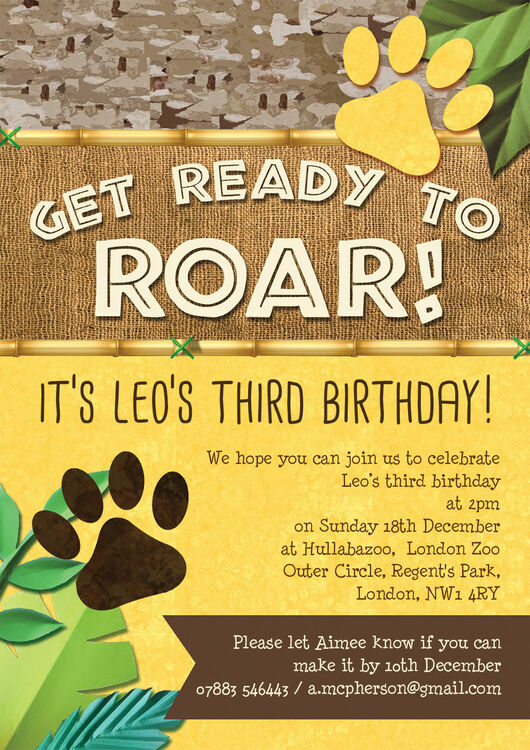 Lion King Of The Jungle Party Invitation From 163 0 80 Each
