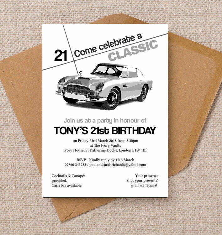 car birthday party invitations