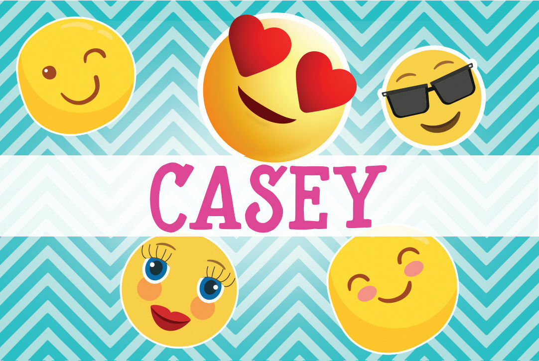 Emoji Themed Personalised Name Cards