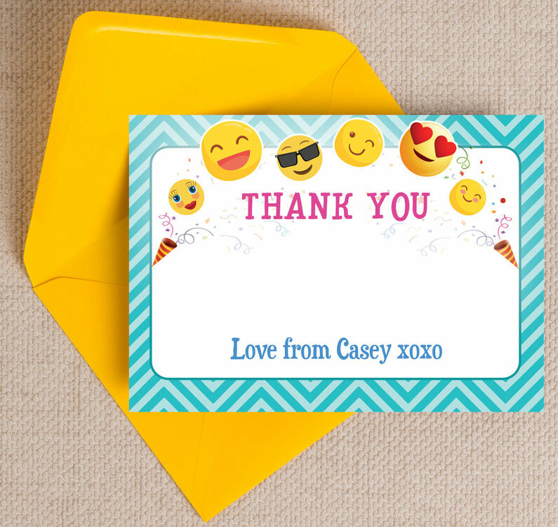 Emoji Themed Thank You Card From 163 0 75 Each