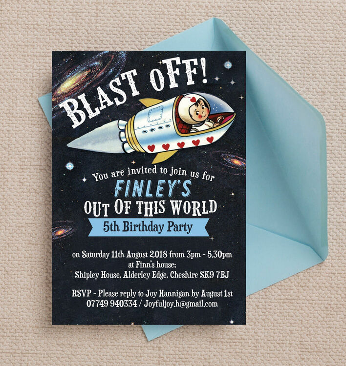 Spaceman / Astronaut Themed Birthday Party Invitation from ...