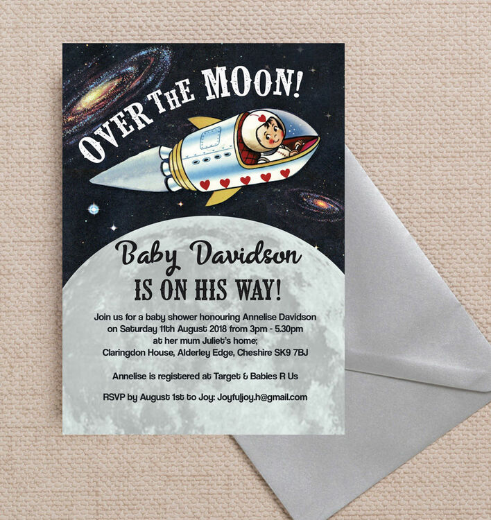 spaceman over the moon baby shower invitation additional 2