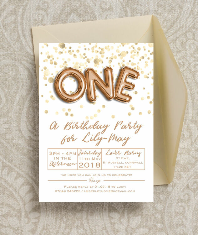 Gold balloon letters birthday party invitation from 080 each gold balloon letters birthday party invitation additional 3 thecheapjerseys Images
