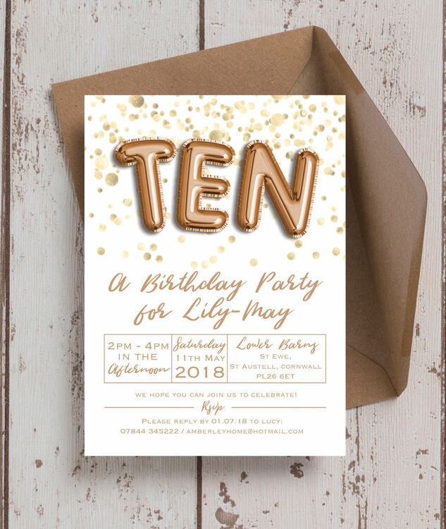 Gold balloon letters birthday party invitation from 080 each gold balloon letters birthday party invitation additional 1 thecheapjerseys Choice Image