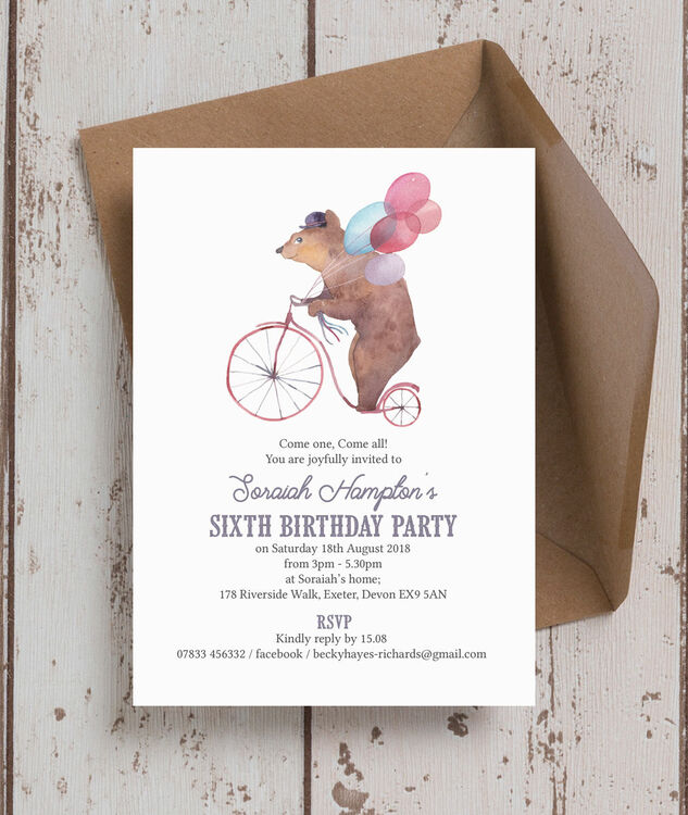 Circus Friends Birthday Party Invitation Additional 1 2