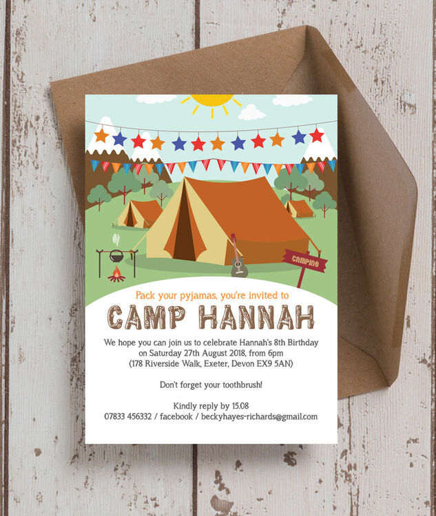 Camping themed birthday party invitation from 080 each camping themed birthday party invitation additional 1 filmwisefo