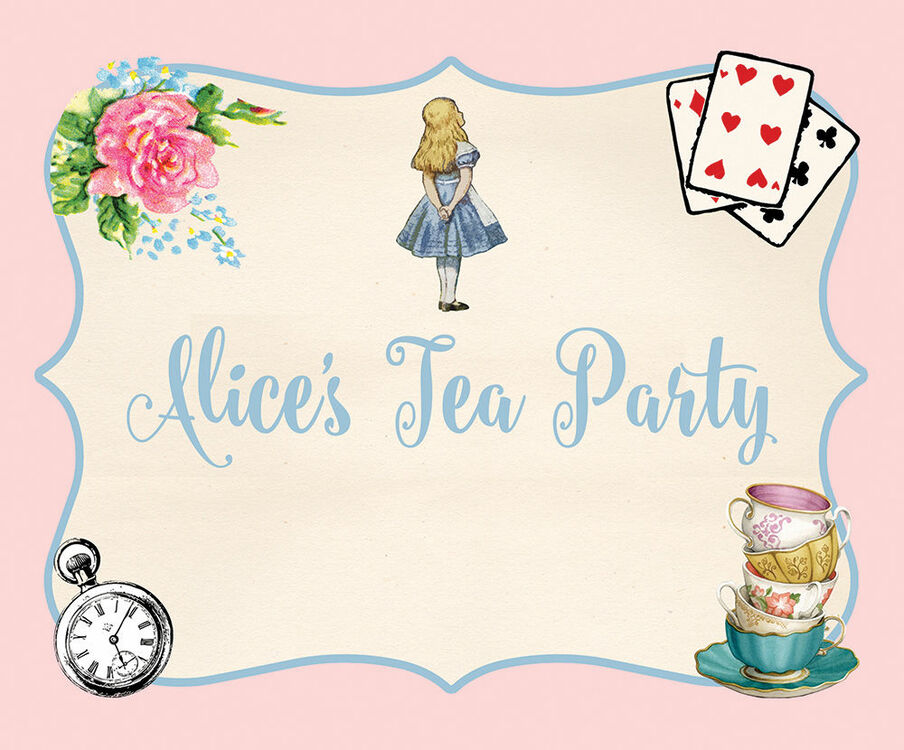 image relating to Alice in Wonderland Printable titled Alice inside Wonderland Bash Indicator