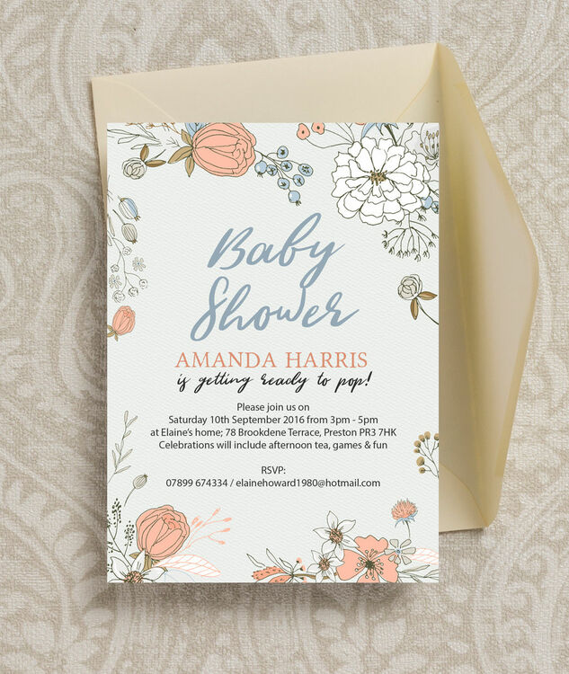 Wild flowers baby shower invitation from 080 each wild flowers baby shower invitation additional 3 filmwisefo