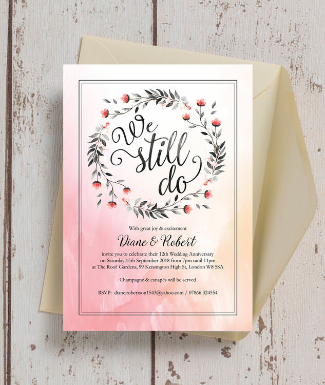 We Still Do\' Wedding Anniversary Invitation from £1.00 each
