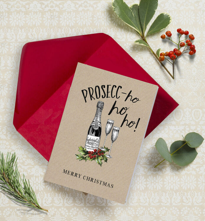 Prosecc-ho-ho-ho!\' Non Personalised Christmas Cards - Pack of 10 ...