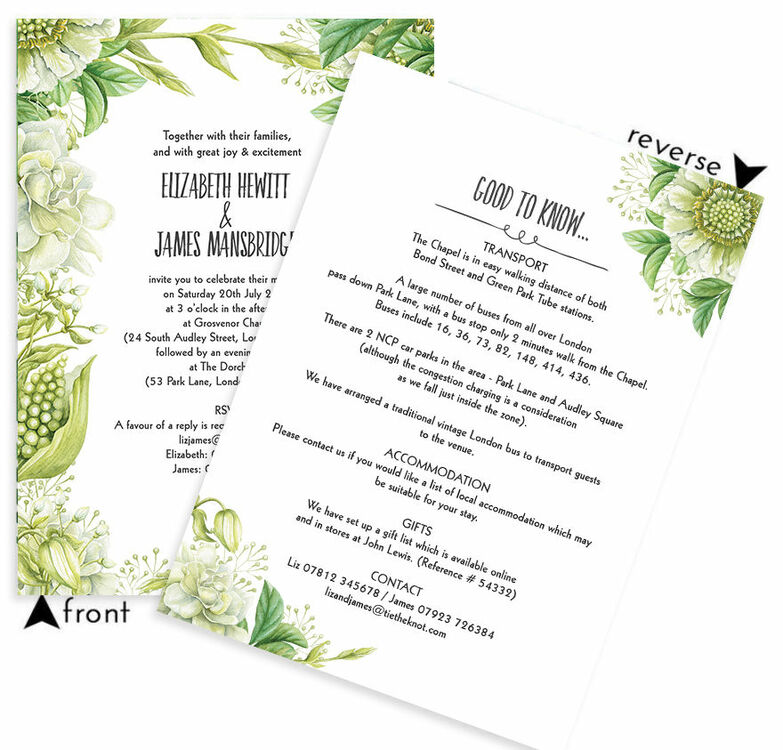 Greenery wedding invitation from 100 each greenery wedding invitation additional 3 stopboris Image collections