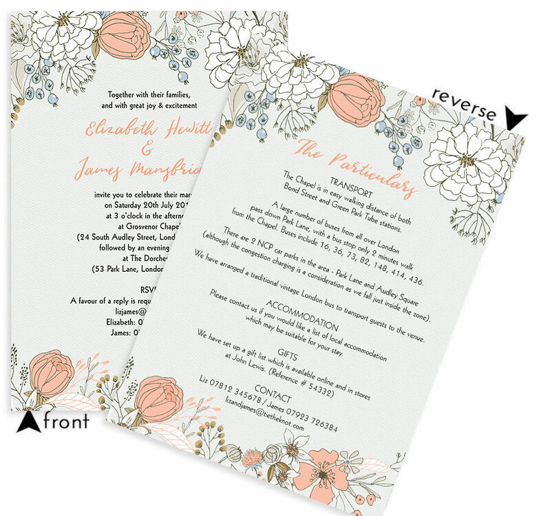 Wild flowers wedding invitation from 100 each wild flowers wedding invitation additional 3 stopboris Image collections
