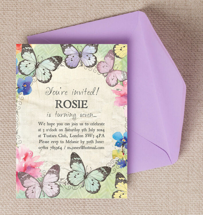 Butterfly Garden Party Invitation