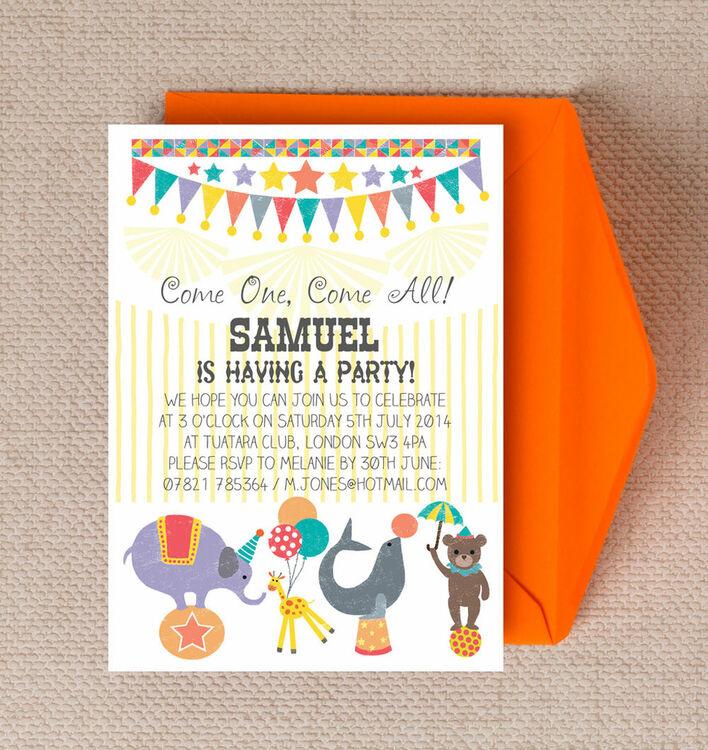 Circus Fun Party Invitation