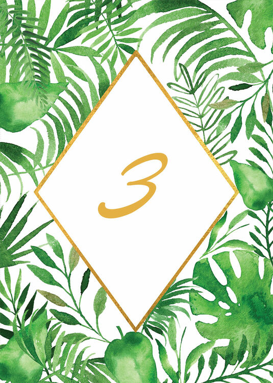 Tropical Leaves Table Number From 163 3 00 Each