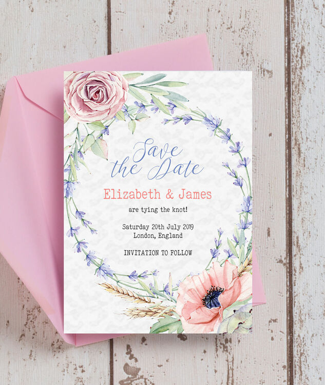 ee31e53b18 ... Country Flowers Save the Date additional 5 ...