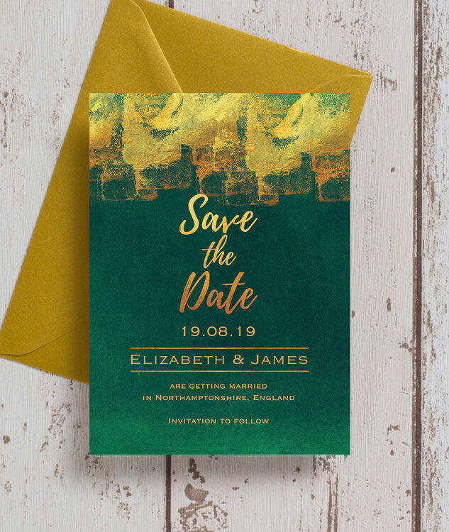 Emerald Amp Gold Save The Date From 163 0 85 Each